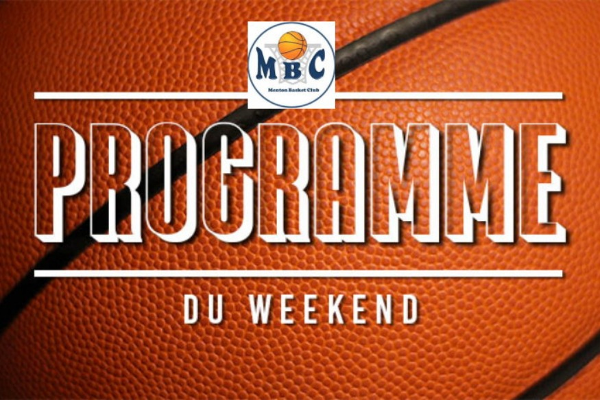 Menton Basket Club programme du week-end du 1 au 3 mars 2019